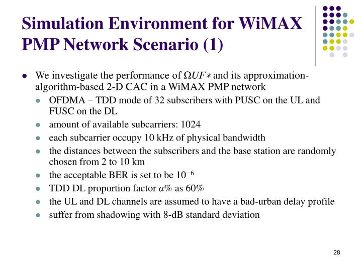 Simulation Environment for WiMAX PMP Network Scenario (1)