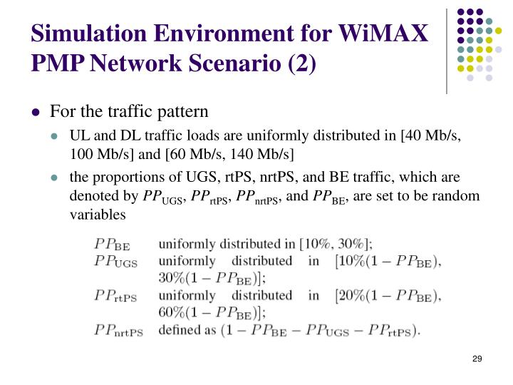 Simulation Environment for WiMAX PMP Network Scenario (2)