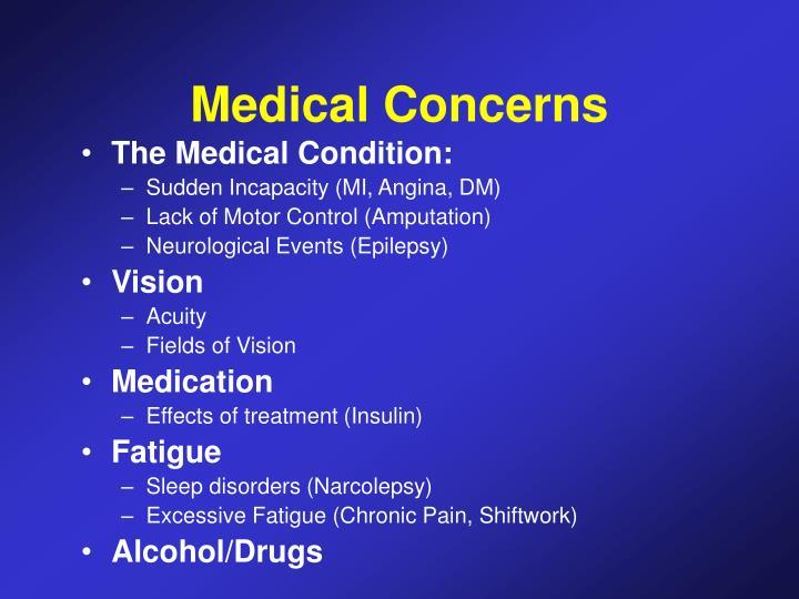 Medical Concerns