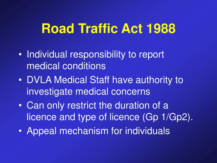 Road Traffic Act 1988