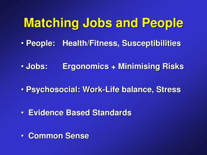 Matching Jobs and People