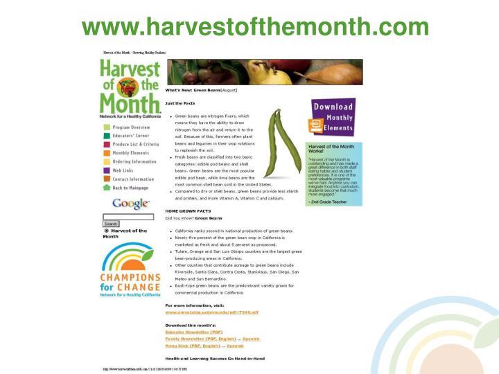 www.harvestofthemonth.com
