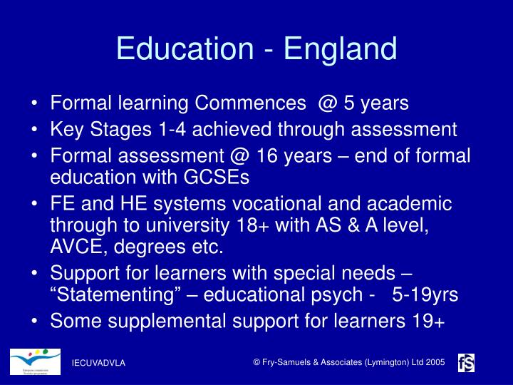 Education - England