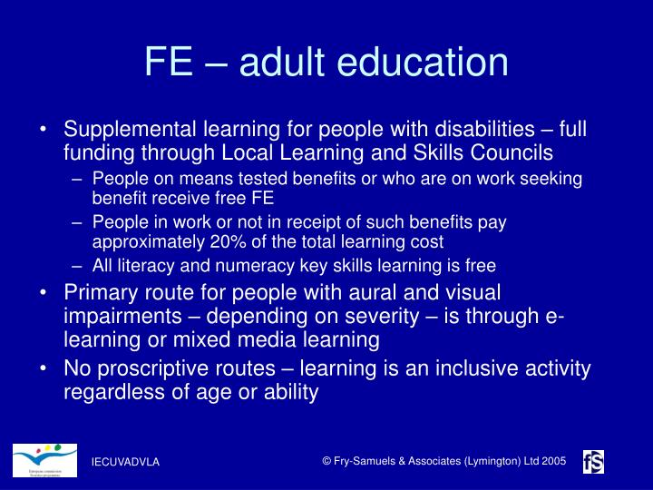 FE – adult education