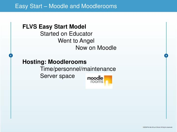 Easy Start – Moodle and Moodlerooms