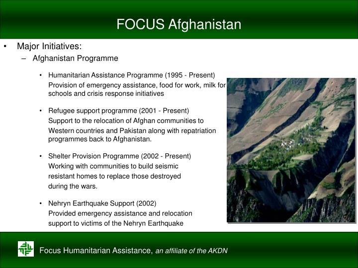 FOCUS Afghanistan