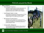 focus around the world