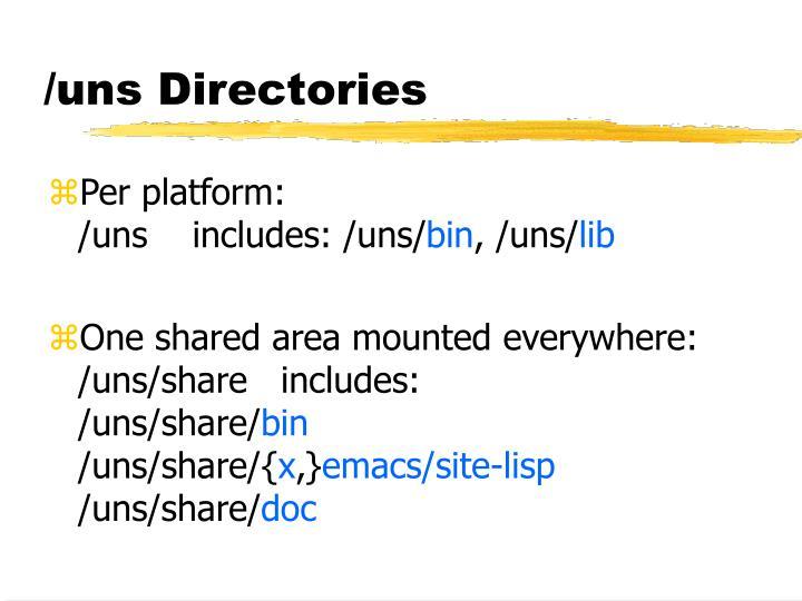/uns Directories