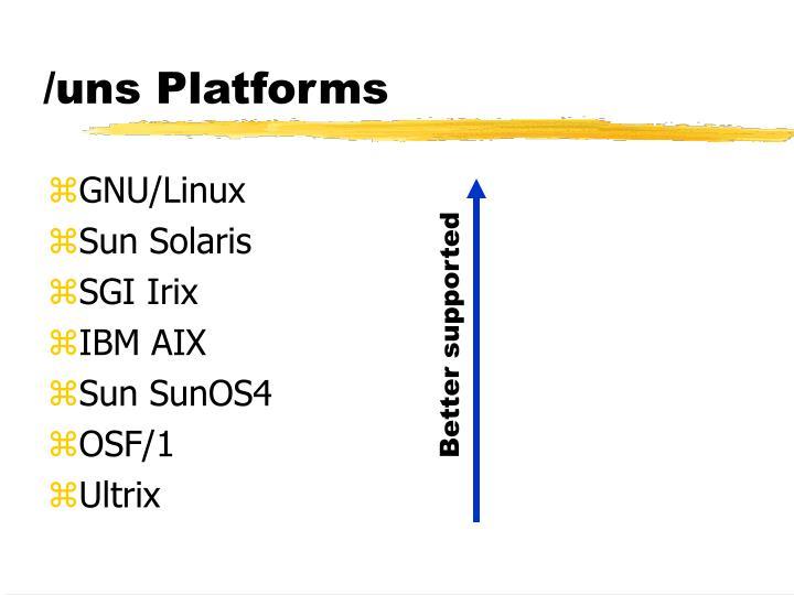 /uns Platforms
