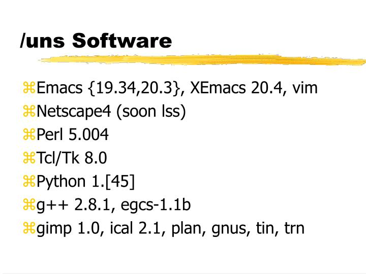 /uns Software