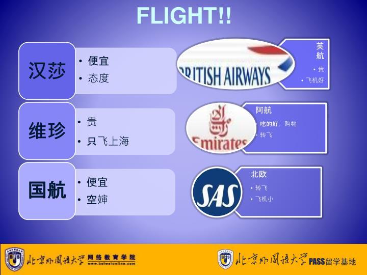 FLIGHT!!