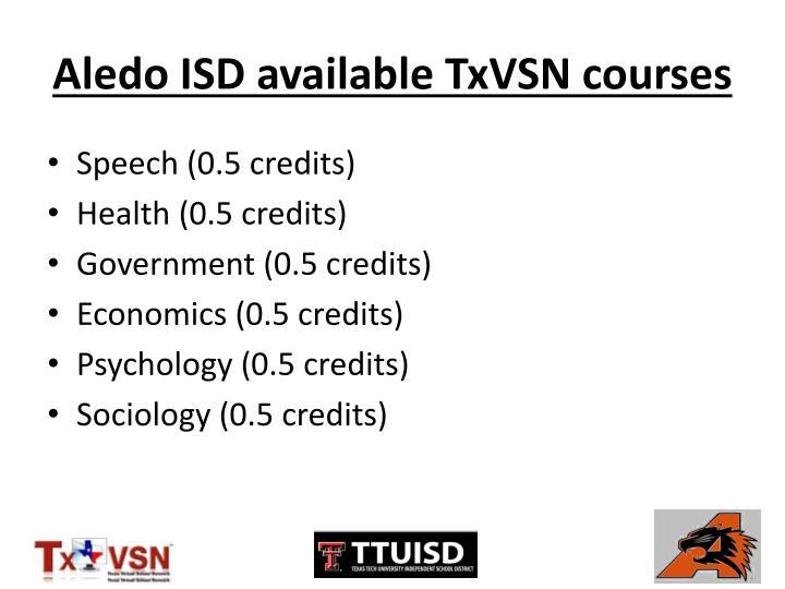 Aledo ISD available