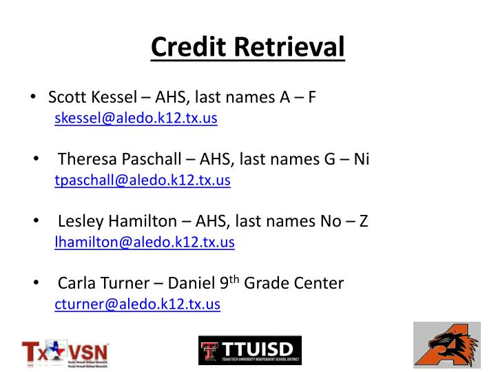 Credit Retrieval