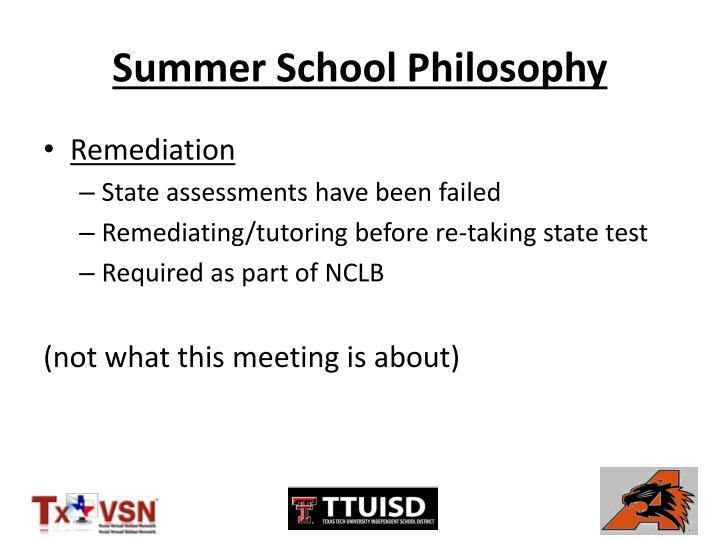 Summer School Philosophy