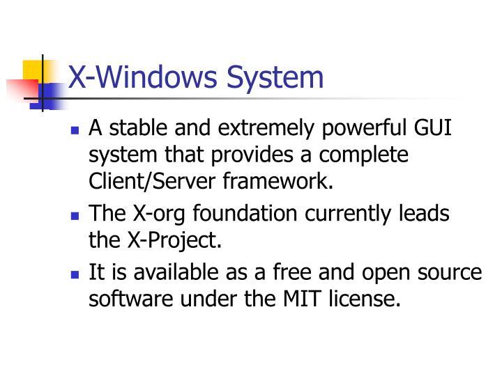 X-Windows System
