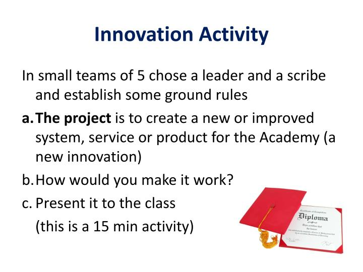 Innovation Activity