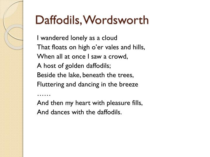 Daffodils, Wordsworth