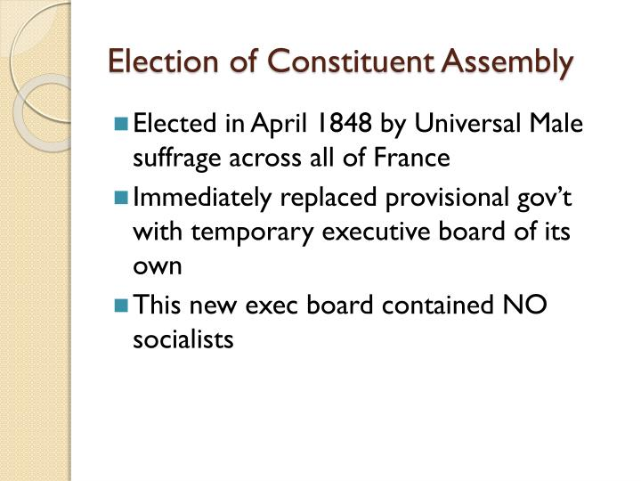 Election of Constituent Assembly