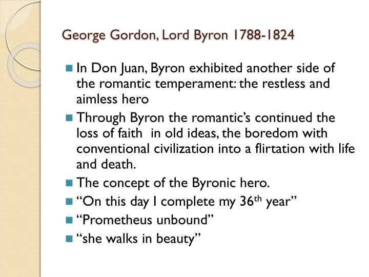 George Gordon, Lord Byron 1788-1824