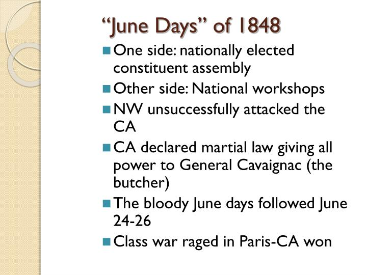 """June Days"" of 1848"