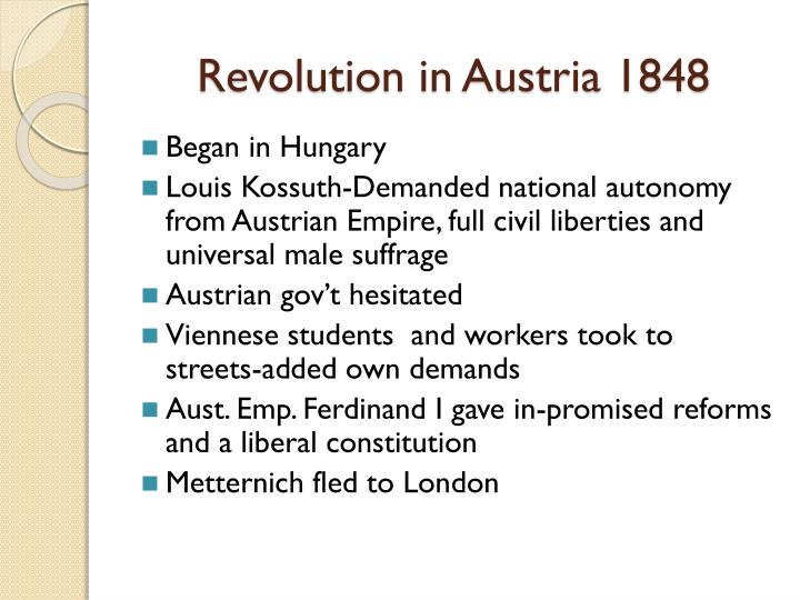 Revolution in Austria 1848