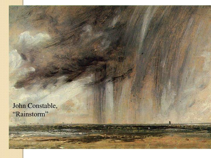 """John Constable, """"Rainstorm"""""""