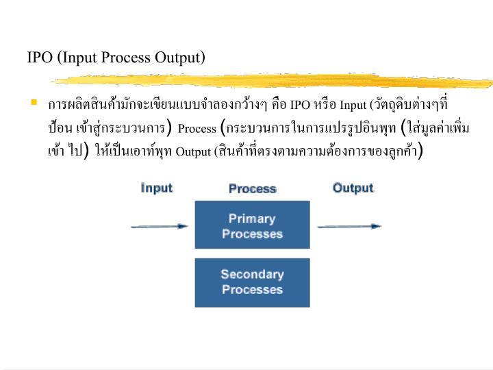 IPO (Input Process Output)