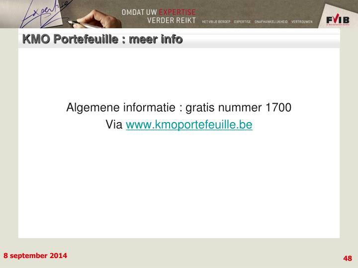 KMO Portefeuille : meer info