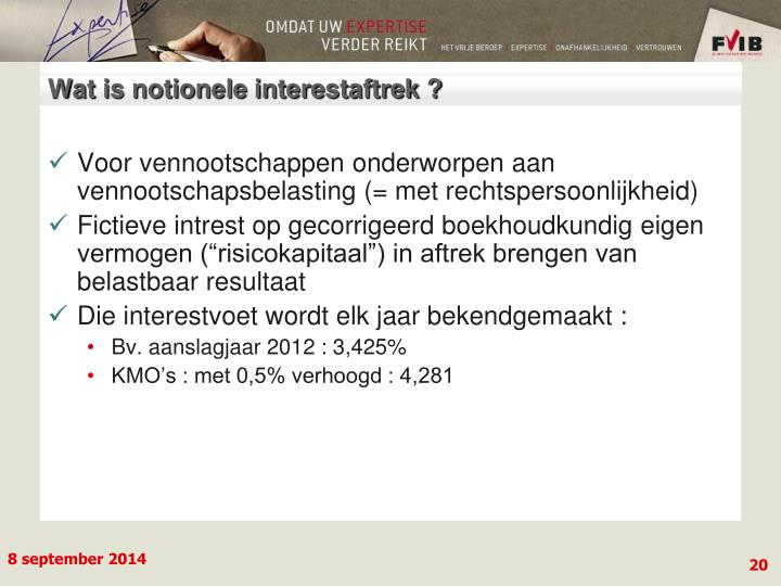 Wat is notionele interestaftrek ?