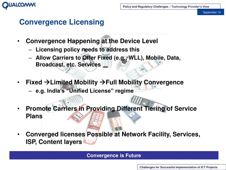 Convergence Licensing