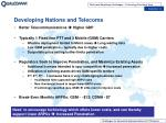 developing nations and telecoms