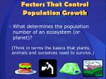 factors that control population growth1