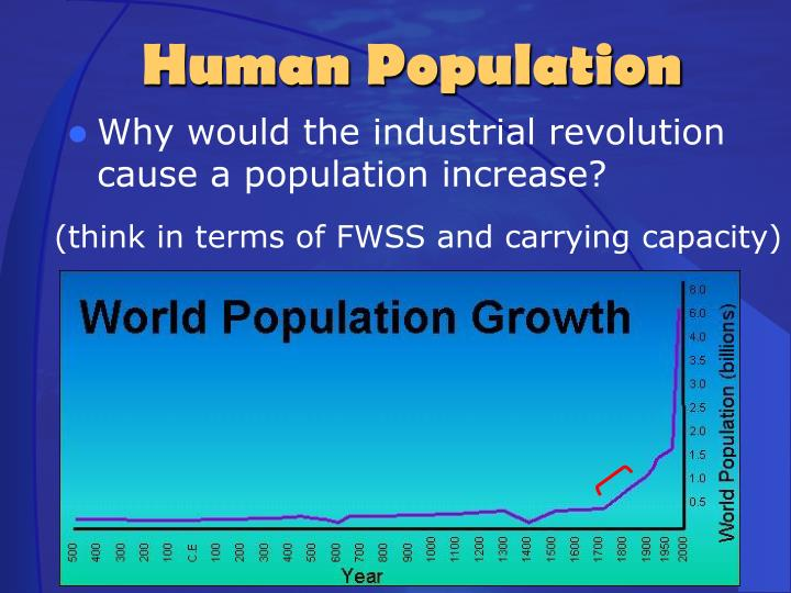 Why would the industrial revolution cause a population increase?