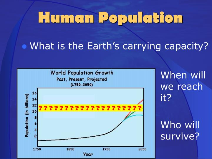 What is the Earth's carrying capacity?