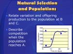 natural selection and populations1
