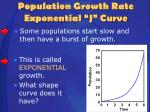 population growth rate exponential j curve