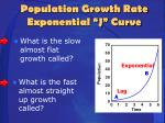 population growth rate exponential j curve1