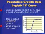 population growth rate logistic s curve