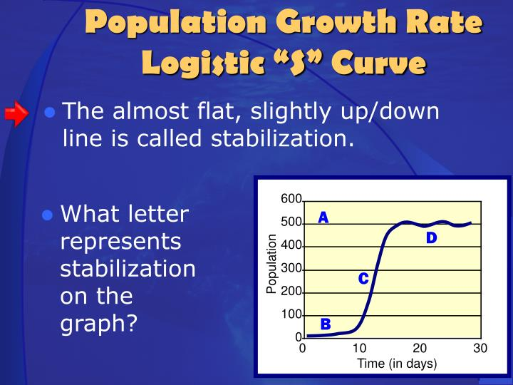 The almost flat, slightly up/down line is called stabilization.