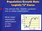 population growth rate logistic s curve2
