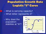 population growth rate logistic s curve3