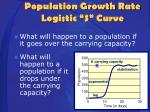 population growth rate logistic s curve4