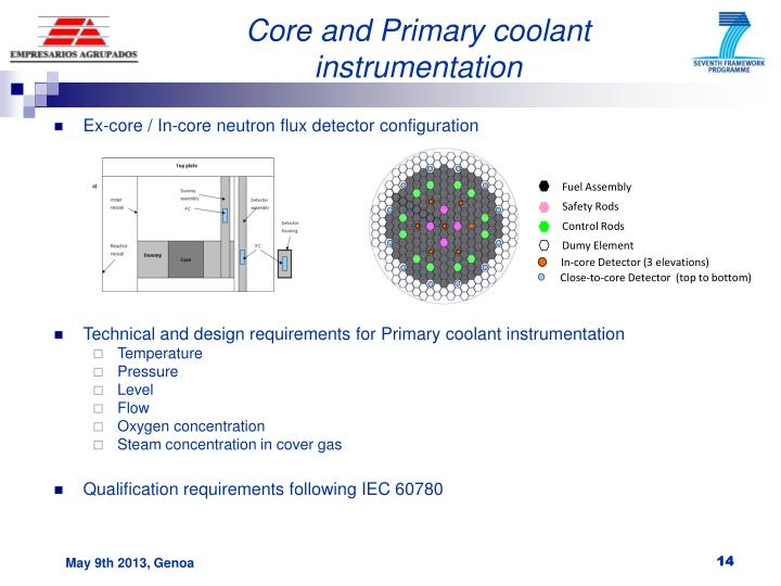 Core and Primary coolant instrumentation