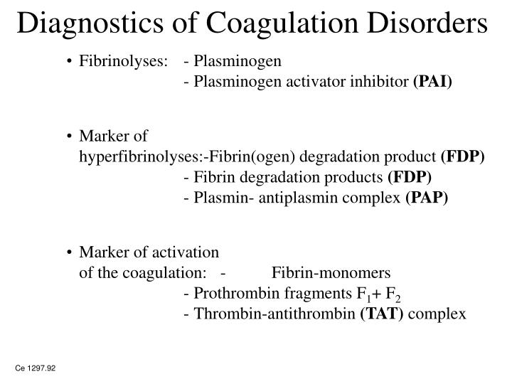 Diagnostics of Coagulation Disorders