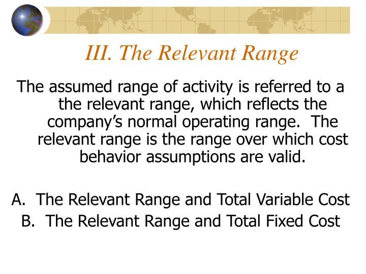III. The Relevant Range