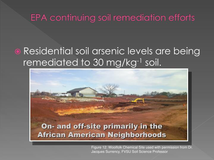 EPA continuing soil remediation efforts