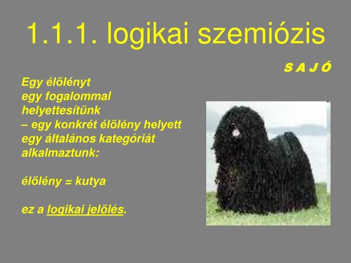 1.1.1. logikai szemiózis