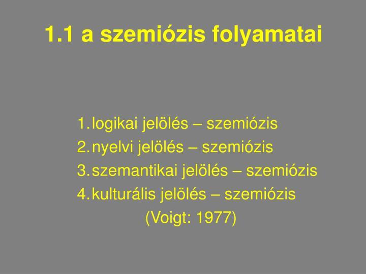 1.1 a szemiózis folyamatai