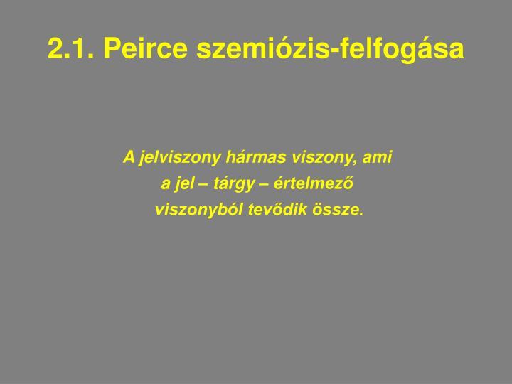 2.1. Peirce szemiózis-felfogása