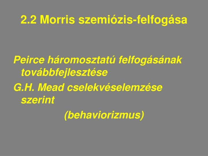 2.2 Morris szemiózis-felfogása
